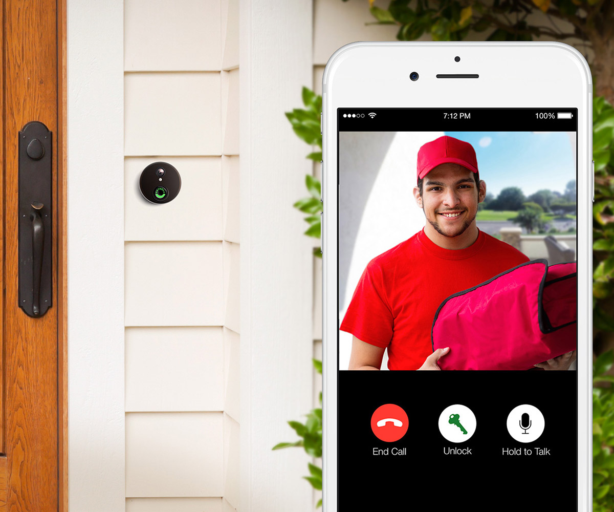 Screen view of doorbell camera