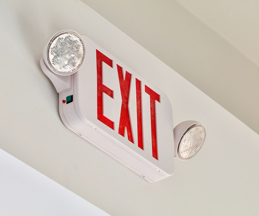 Exit sign with lighting